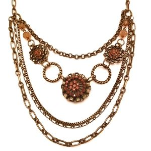 5 Layer Statement Necklace